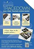 Tracedown - Carta transfer A4, confezione da 5 fogli, colore: Bianco