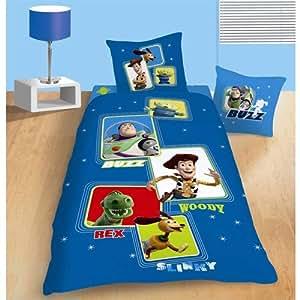 Disney toy story pictures 38704 parure housse de couette 140 x 200 cm taie d 39 oreiller 63 x 63 - Housse de couette toys story ...