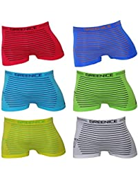 DealZone Pack of 12/ Kids Boys Uomo Microfibre Boxer Shorts