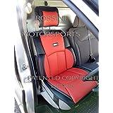 Rossini Motorsports - Funda para asiento de coche (PVC, cuero sintético, asiento del conductor, para Opel Vivaro YS06), diseño deportivo, color rojo