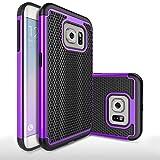 Roar Samsung Galaxy S6 EDGE Hülle Silikon Handyhülle/Schutzhülle/Case - Outdoor Handyschale - TPU Schutz Bumper f. Samsung Galaxy S6 EDGE (G925) - Violett