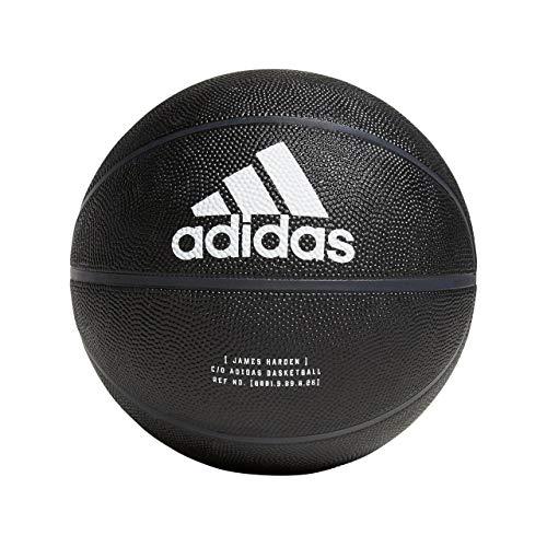 adidas Herren Harden Signature Basketball, Black/White/Carbon, 7 -