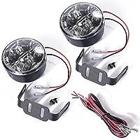 2x 4 Led Impermeabile Luci Diurne Daylight Running Light 12v LED DRL dell'automobile Luce Bianca MA135
