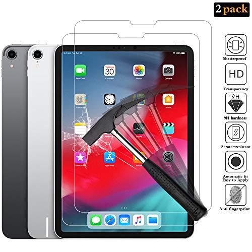 ANEWSIR Panzerglas Schutzfolie für iPad Pro 11 2018 [2 Stück], 9H Härte, Anti- Kratzer, Anti-Bläschen, HD-Klar, Face ID möglich Panzerfolie Schutzfolie Bildschirmschutzfolie für iPad Pro 11 Zoll 2018