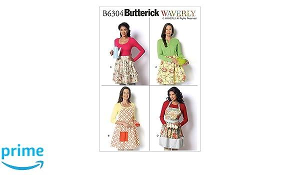 Tissue 17 x 0.5 x 22 cm Multicoloured Misses Aprons,Sizes S-XL Butterick Patterns 6467