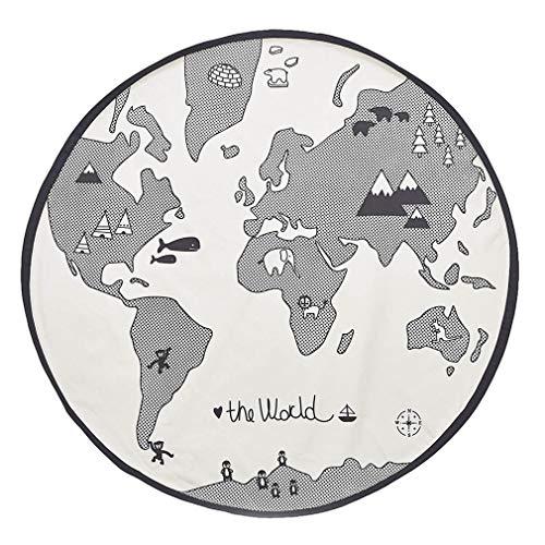 Weiche weiße Weltkarte scherzt Schlafzimmer Kinderzimmer Wolldecke junge Mädchen Matteppiche, Baby Spielmatte, weiches Tuch Säuglings Weltkarte Playmat Decke, mat 135CM