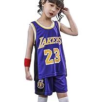 Kids Boys Girls Lebron James #23 LBJ LA Lakers Basketball Jerseys ...