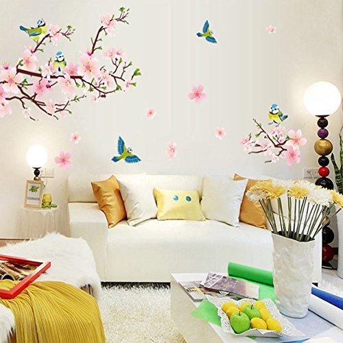 wallpark-chinoise-style-peches-fleur-arbre-chanceux-pie-oiseaux-amovible-stickers-muraux-autocollant