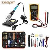 [Version améliorée 2018] Kit de Fer à Souder Electrique, ZEEPIN 23 en 1 Kit de Soudage avec Sac à Outils, Fer à Souder à Température Réglable de 220V 60W, Pour Débutant Electrique et Bricolage