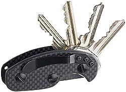PEARL Key Organizer: Schlüssel-Organizer aus Carbon für bis zu 8 Schlüssel, schwarz (Schlüssel Key)