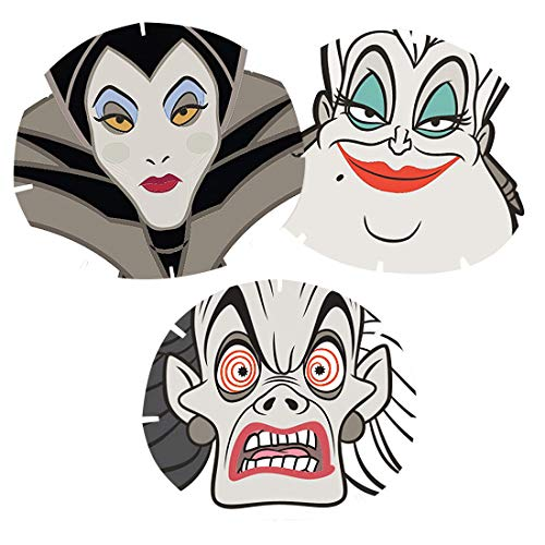 Mad Beauty Disney Set Of 3 Villains Sheet Face Mask Collection from