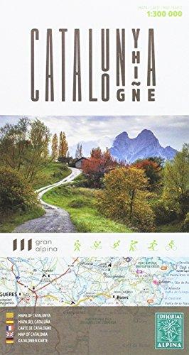 Cataluña 1:300.000 mapa de carreteras. Editorial Alpina.