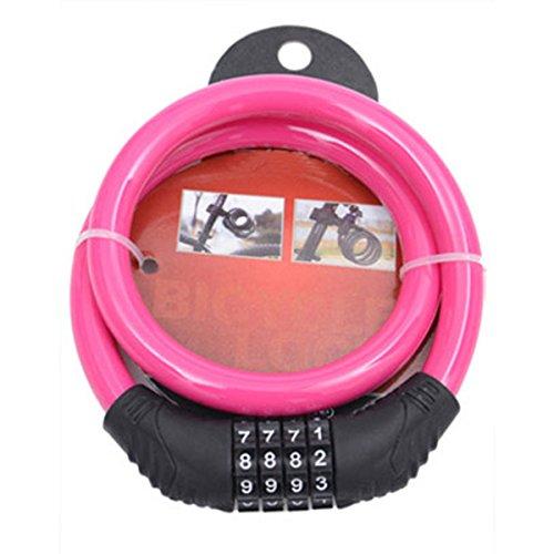 Fahrrad Kabelschloss - WinCret Durable Anti-Diebstahl-4-stelliges, rückstellende Fahrradschloss Password Lock Kettenschloss (Scooter Cover Wasserdicht)