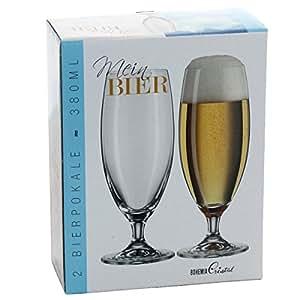 2 er Bierglas - Biertulpe aus Kristallglas, ca. 380 ml pro Glas, im Geschenkkarton