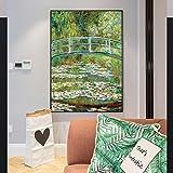 Danjiao Ponte Su Uno Stagno Di Ninfee Stampe Su Tela Quadri Impressionisti Ninfee Stampe D'Arte Decorazioni Per La Casa Camera Da Letto 60x90cm