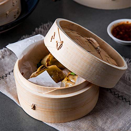 Bambusdämpfer Dampfkorb Dämpfeinsatz für Reis, Dim Sum, Gemüse, Fisch und Fleisch By Seasaleshop