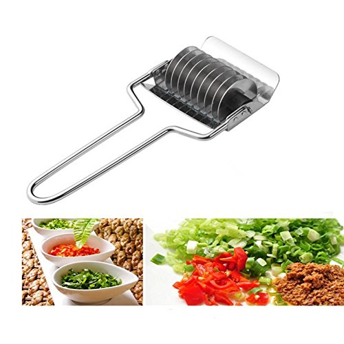 Anddod 1Pcs Stainless Steel Onion Chopper Slicer Garlic Coriander Cutter Cooking Tools Slicing Tool Kitchen Accessories Gadgets Vegetable Cutter Chopper-tool