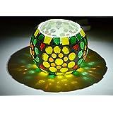 Harekrishna Vintage Candle Sticks Mosaic Glass Votive Tea Light Candle Holder Yankee 3 Inch