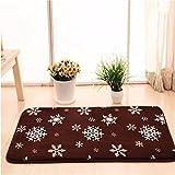 Qianmo-Carpet Kann In Der Maschine Waschen Sog Wc Matte Bad Anti-Skid Kaffee Schneeflocke Werden Muster, 50 * 80 Cm
