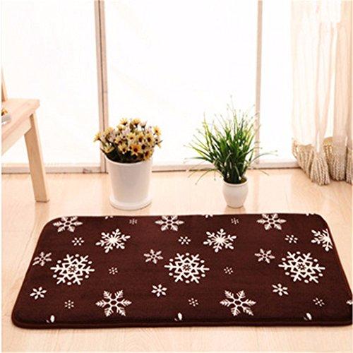 Preisvergleich Produktbild Qianmo-Carpet Kann In Der Maschine Waschen Sog Wc Matte Bad Anti-Skid Kaffee Schneeflocke Werden Muster, 50 * 80 Cm