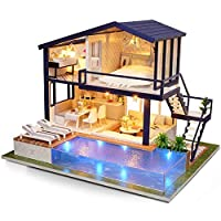 Lol Doll House Furniture,Diy Cottage Apartment Handmade Assembled Wooden Villa Model with Music Lighting/Creative Doll House Christmas Birthday Gift