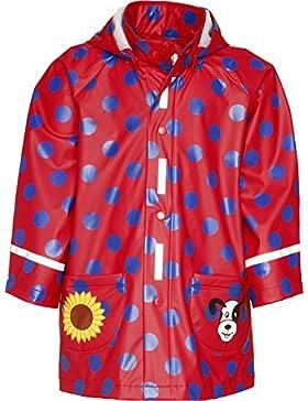 Playshoes Mädchen Regenmantel Regen-Mantel Große Punkte Rot