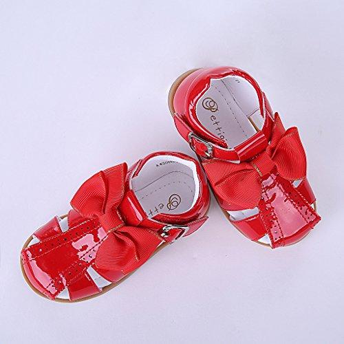 Pettigirl Ragazze Arco Spagnolo Sandali Bambino Piccolo Bambini Estate Partito Nozze Scarpe Rosso