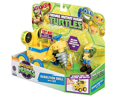 Teenage Mutant Ninja Turtles Turtles Halbschalen Helden Fahrzeug und Figur–Konstruktion mit QuickIN-Leo (Half Shell Heroes Leo)