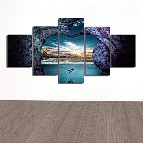 �Fünf Kampf HD Rock seelandschaft Strand Handwerk Malerei Inkjet Home Office Wandbild Hintergrund Malerei 3 Malerei Kern 30x40cmx2 30x60cmx2 30x80cmx1 ()