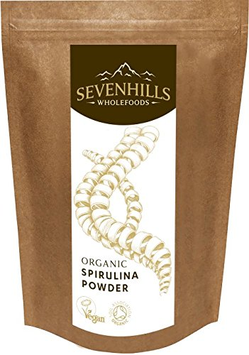 Sevenhills Wholefoods Organic Spirulina Powder 500g, Soil Association certified organic Test