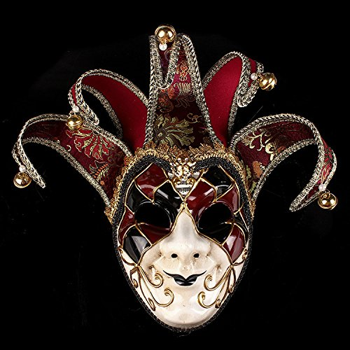 K&C Halloween Kostüm Joker Maske Tanzparty Venedig Prinzessin Maske Rot
