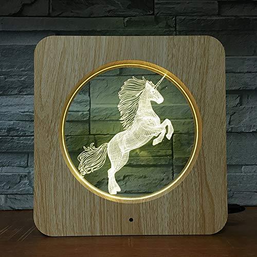 Pferd Farbe Kunststoff nachtlicht bilderrahmen tischlampe Kind Farbe Geschenk Dekoration