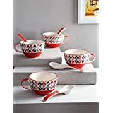 KITTENS Ceramic Soup Bowl, Pack of 4, (Red)