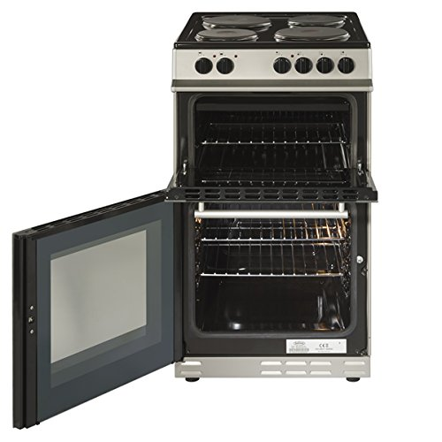 512OO%2BVrNCL. SS500  - Belling FS50ET A Rated Twin Cavity 50cm Electric Cooker with 4 Burners in Silver