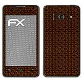 atFolix Huawei Ascend Y300 Skin FX-Honeycomb-Brown Designfolie Sticker - Waben-Struktur/Honigwabe