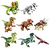 OliaDesign ABS 3 Jurassic World Minifigures Jurassic Park Dinosaur Building Blocks 8 Piece