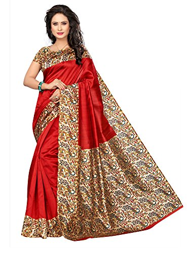 Mrinalika Fashion Women'S Art Silk Saree With Blouse (Sarees New Collection 2018...