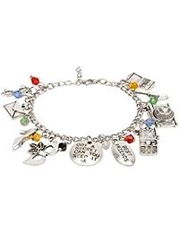 Access-o-risingg Non-Precious Metal Silver Multi Charm Bracelet for Women