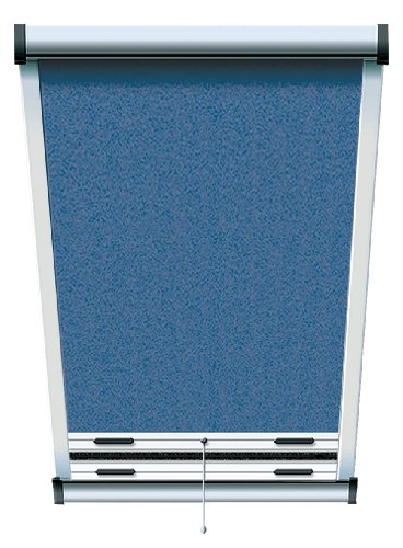 Schellenberg 50535 Insektenschutz-Rollo für Dachfenster 70 x 140 cm blau/eloxiert