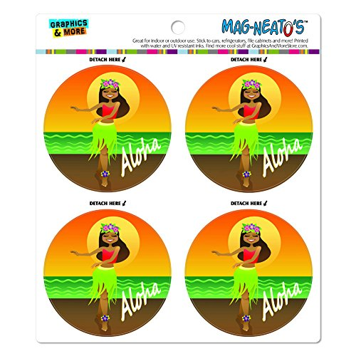 Aloha Hawaii Hula Tänzerin Mag-Neato 's-TM) Automotive Car Kühlschrank Locker Vinyl Magnet Set