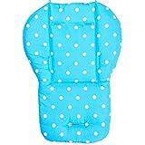 Freahap Matratze Kinderwagen Kinderwagenmatratze Sitzkissen Polyester Blau