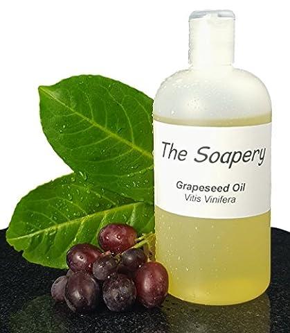Traubenkernöl 500ml – kosmetische Qualität – auch Trägeröl für Massage und Aromatherapie (Dunkle Bräunung Formel)