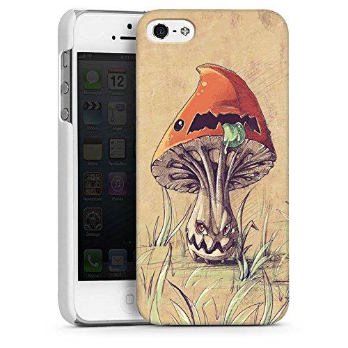 Apple iPhone 4 Housse Étui Silicone Coque Protection Amanite tue-mouches Plante Champignon CasDur blanc