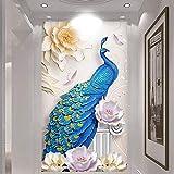 LJIEI Fensterfolie Peacock Veranda Günstigen Glas Farbfilm Kleiderschrank Fenster Fenster Bücherregal Undurchsichtigen Spiegel Explosionsgeschützte Aufkleber