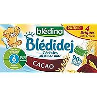 Blédina Bledidej Céréales Cacao 4 Briques x 25 cl