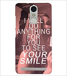 PrintDhaba Quote D-4898 Back Case Cover for LENOVO K5 NOTE (Multi-Coloured)