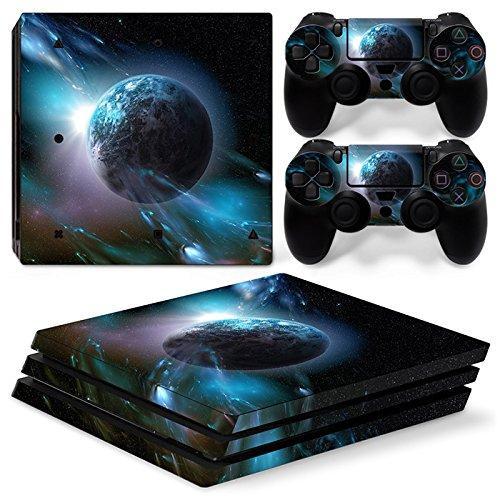 Sony PS4 Playstation 4 Pro Skin Design Foils Aufkleber Schutzfolie Set - Planet Motiv Skin Design Schutzfolie
