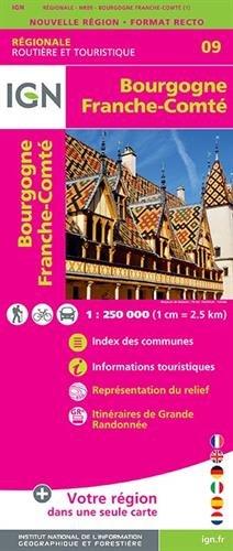 Frankreich Karte Burgund (Bourgogne Franche-Comté 1:250 000)