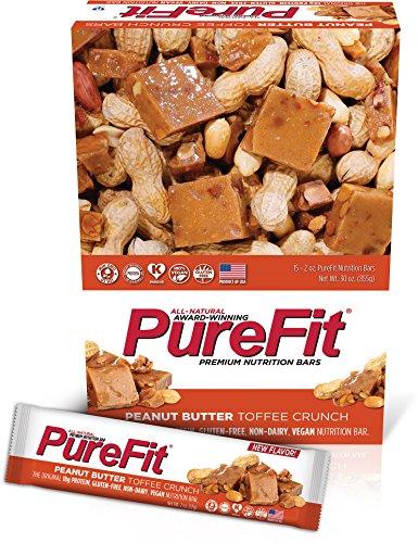 Purefit Nutrition Bar Peanut Butter Toffee Crunch - Gluten Free