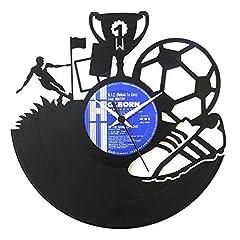 Idea Regalo - Calcio idea regalo uomo calciatore, Orologio in vinile squadra di calcio